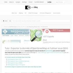 Tuto : Exporter la donnée d'OpenStreetMap et l'utiliser sous QGIS
