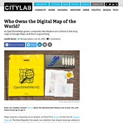 Mapbox, OpenStreetMap, and the Future of the Global Digital Mapping Industry