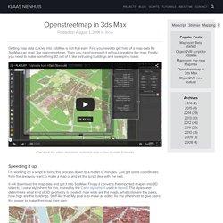 Openstreetmap in 3ds Max - Klaas Nienhuis