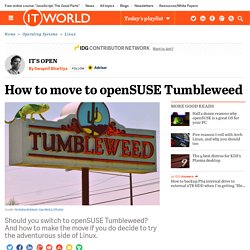 How to move to openSUSE Tumbleweed