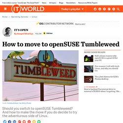 How to move to openSUSE Tumbleweed