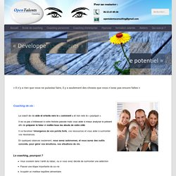 Coaching de vie et Hypno-coaching