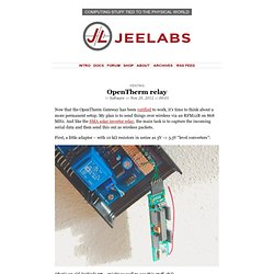 » OpenTherm relay JeeLabs