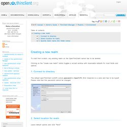 Free Open Source Thin Client Solution - OpenThinClient : Environment