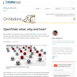 OpenTrials: what, why and how?