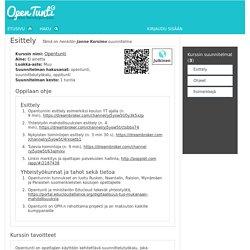 Opentunti - Näytä suunnitelma - Esittely