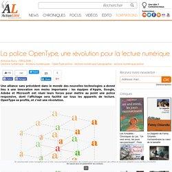 La police OpenType, une révolution pour la lecture numérique