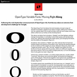 OpenType Variable Fonts: Moving Right Along
