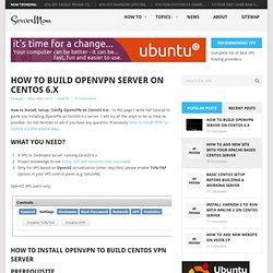 How to install vpn server on centos