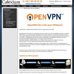 OpenVPN site à site avec OPNsense