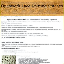 How To Increase The Number Of Stitches When Knitting : Stitches - String Things Pearltrees