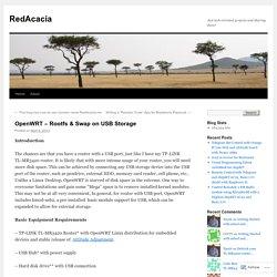 OpenWRT – Rootfs & Swap on USB Storage