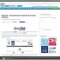 OpenZine – Herramienta de creación de revistas digitales