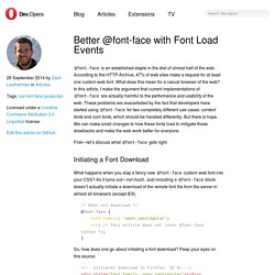 Dev.Opera — Better @font-face with Font Load Events