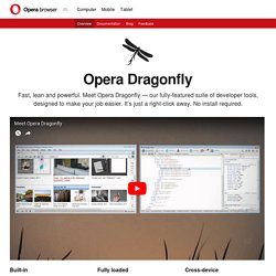 Dragonfly – Opera's built-in web developer tools