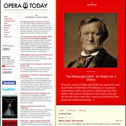 Opera Today : Repertoire