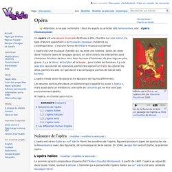 Opéra - Vikidia, l'encyclopédie des 8-13 ans