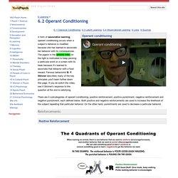 6.2 Operant Conditioning - YAS Psych Txtbk