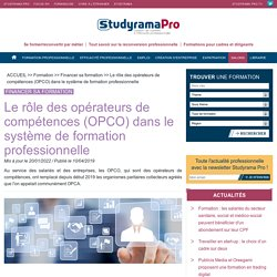 Qu'est-ce qu'un opérateur de compétences (OPCO) ?- Studyrama Pro