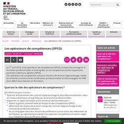 Opérateurs de compétences - OPCO