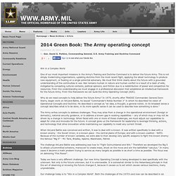 2014 Green Book: The Army operating concept