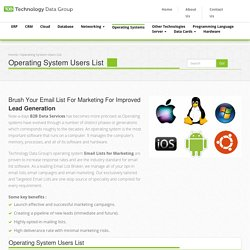 Operating Systems Prospect Lists - Technology Data Group