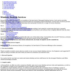 Windows Desktop Operating System Support Services I BassanTech