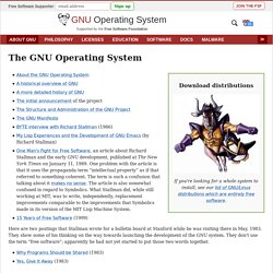 The GNU Operating System - GNU project - Free Software Foundation