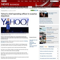 Yahoo's chief operating officer in surprise departure