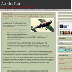 Eyes in the Sky: FBI Is Operating Fleet of Surveillance Planes