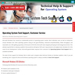 Operating System Tech Support & Customer Serviec Number 1-844-305-0563