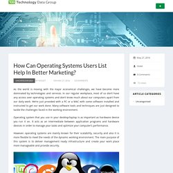 How Can Operating Systems Users List Help In Better Marketing?