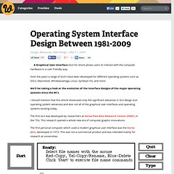Operating System Interface Design Between 1981-2009
