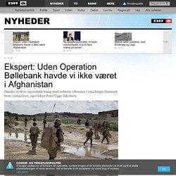 Ekspert: Uden Operation Bøllebank havde vi ikke været i Afghanistan