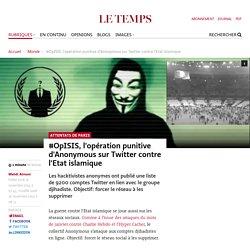 #OpISIS, l'opération punitive d'Anonymous sur Twitter contre l'Etat islamique