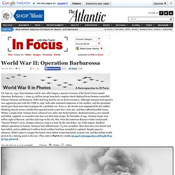 World War II: Operation Barbarossa - Alan Taylor - In Focus