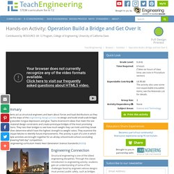 Operation Build a Bridge and Get Over It - Activity