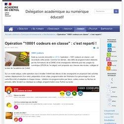 """Opération """"10001 codeurs en classe"""" : c'est reparti !"""