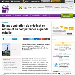[Ville de Reims - Réfection d'une sculpture] Reims : opération de mécénat en nature et en compétences à grande échelle