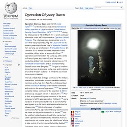 Operation Odyssey Dawn