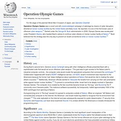 Operation Olympic Games