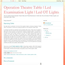 Led OT Lights: Operating Table