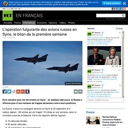 L'opération fulgurante des avions russes en Syrie, le bilan de la première semaine