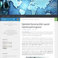 Opération Serval au Mali : quand l'opinion part en guerre