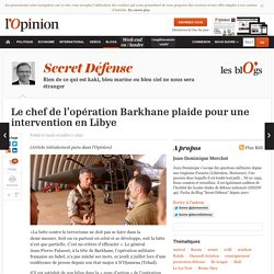 Le chef de l'opération Barkhane plaide pour une intervention en Libye
