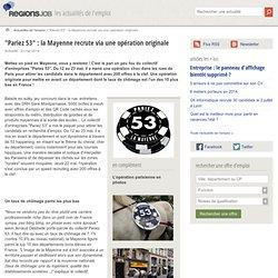 """""""Pariez 53"""" : la Mayenne recrute via une opération originale - Actualité de l'emploi sur OuestJob"""
