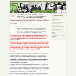 CIA SAC MAFIA même combat