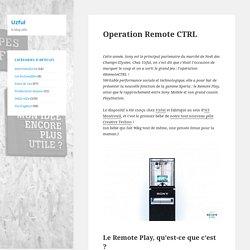 Operation Remote CTRL
