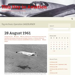Operation SAGEBURNER Archives - This Day in Aviation
