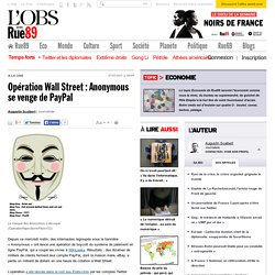 Opération Wall Street : Anonymous se venge de PayPal